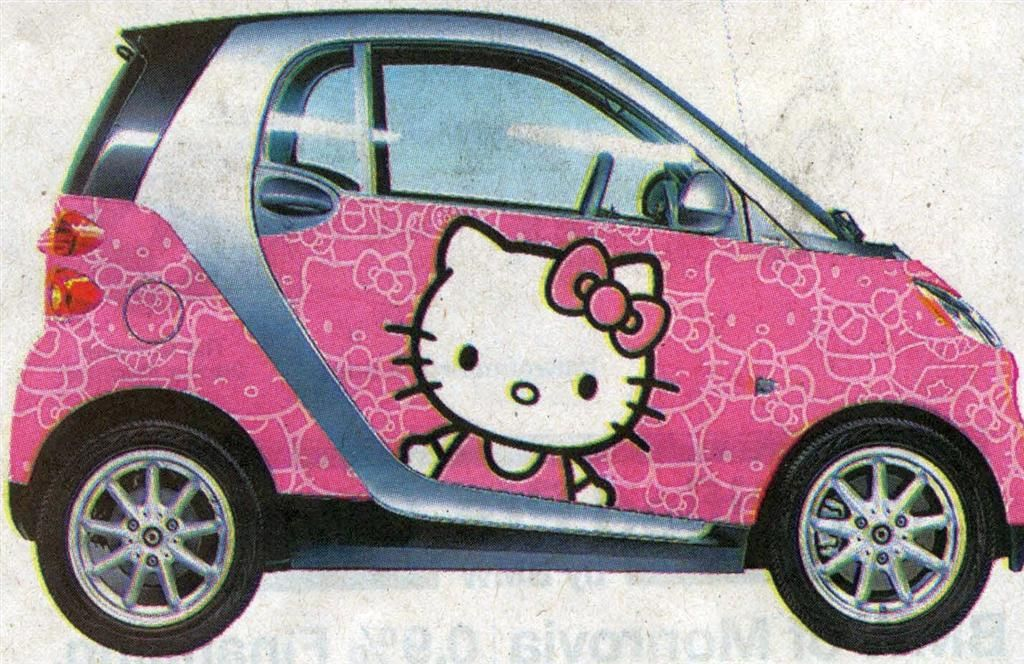 You Know For Kids Hello Kitty Smart Car Wrap Scanned From