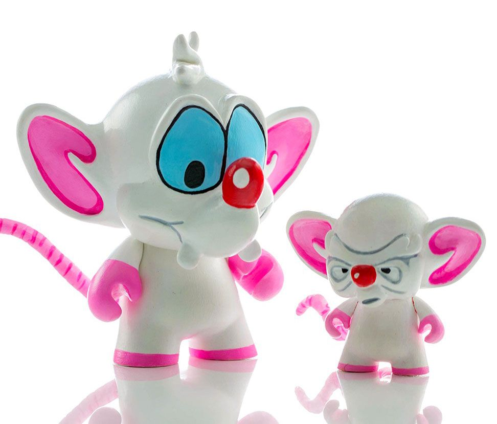 """Pinky & The Brain"" custom Kidrobot Munny's from Homunculus Studio!!!"