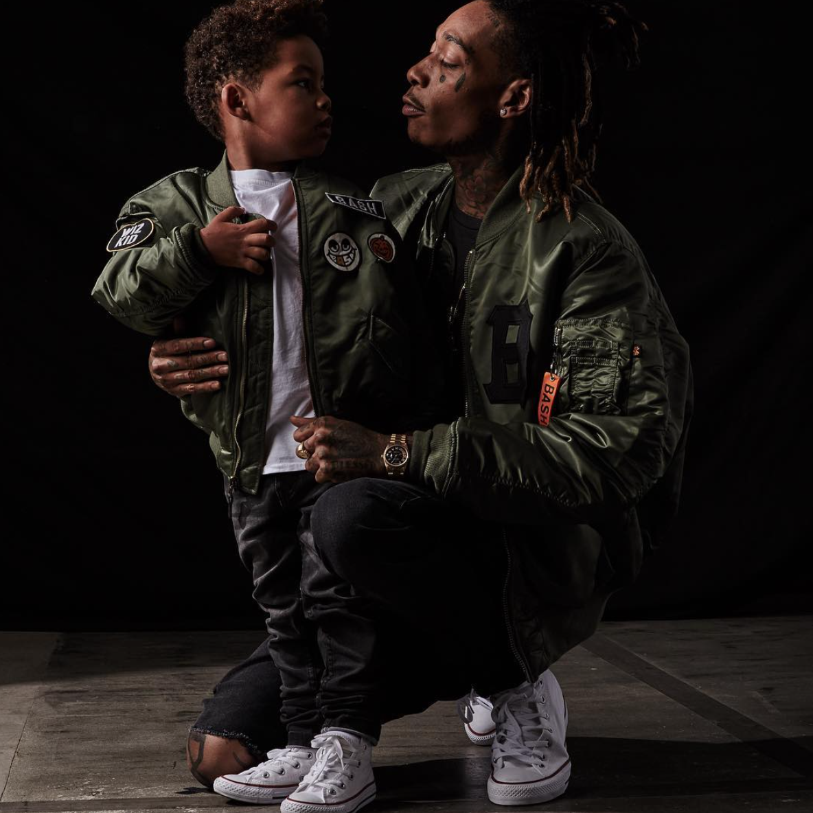 Pictures of wiz khalifa pictures of celebrities - Wiz Khalifa And His Son Sebastian Taylor Thomaz Love Their Bombers From The Alpha X