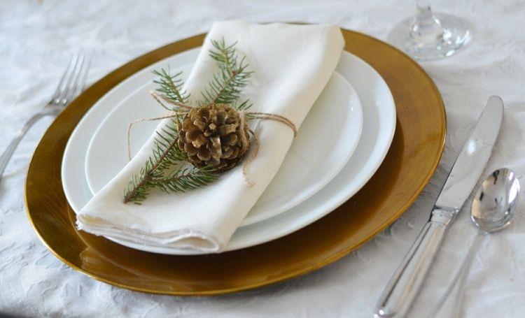 Winterliche Tischdeko Aus Naturmaterialien Winter Deko