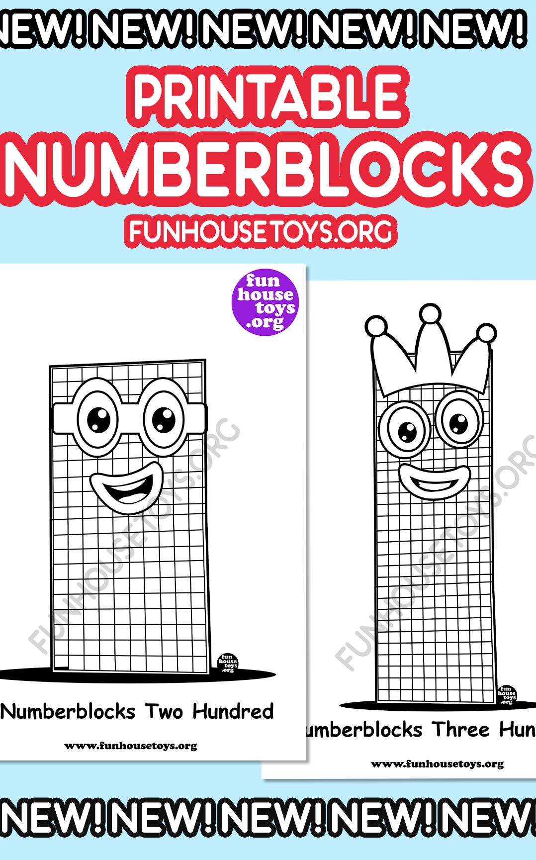 New 200 To 900 Numberblocks Coloring Pages In 2020 Fun Printables For Kids Coloring Pages Coloring Pages For Kids