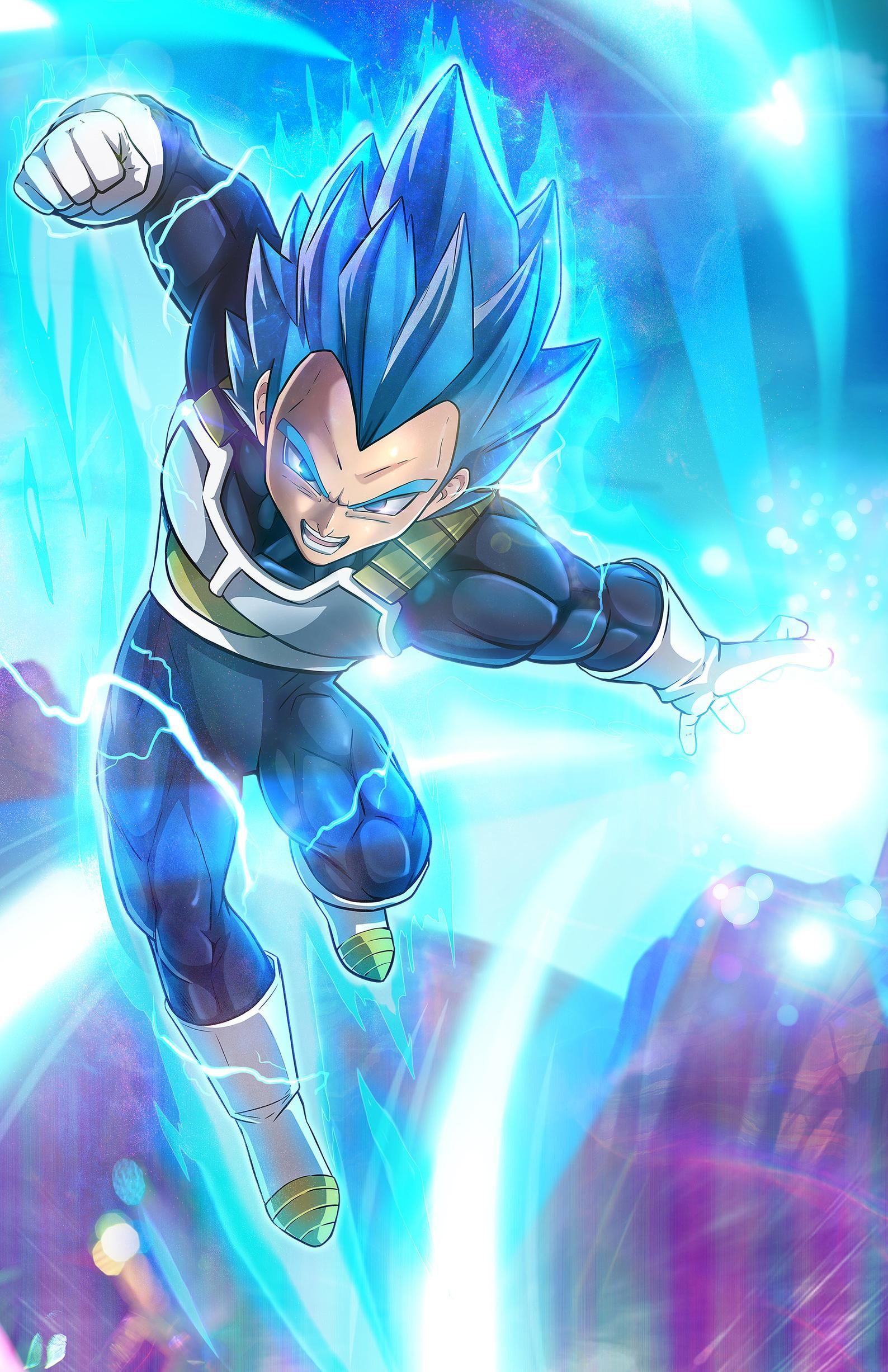 Vegeta Blue Etsy in 2020 Dragon ball super art, Dragon