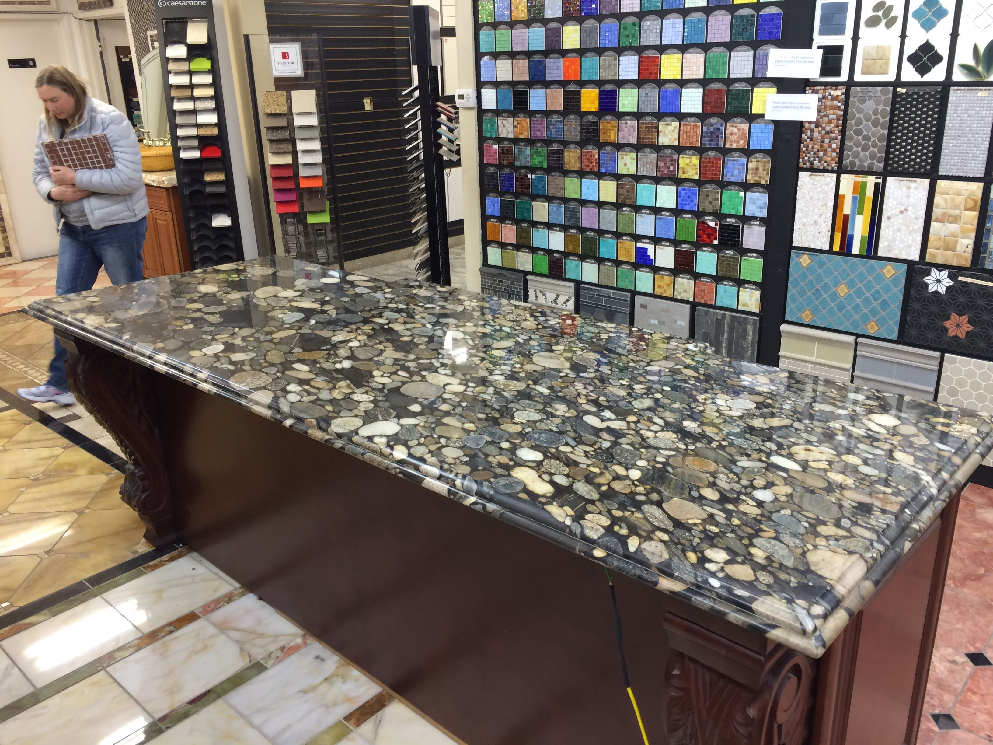 Island In Black Marinace Granite Looks Like River Rocks Would Get Honed And Leathered Not Polished A Cabin Kitchens Kitchen Remodel Inspiration Howard House