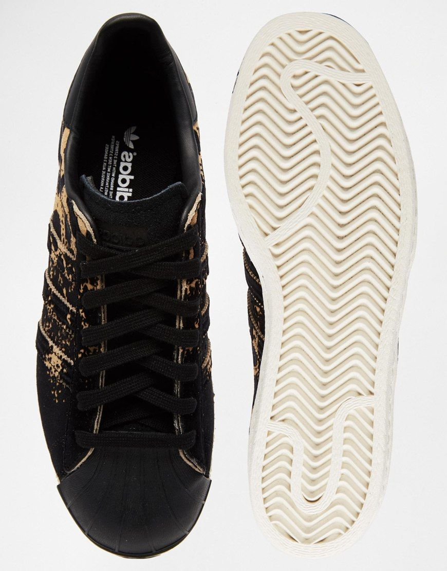 adidas Originals Superstar 80's Ombre Animal Print Sneakers