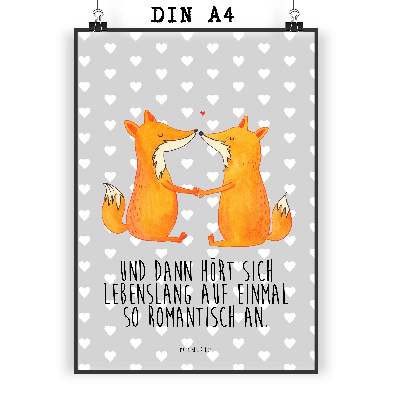 Poster DIN A4 Füchse Liebe
