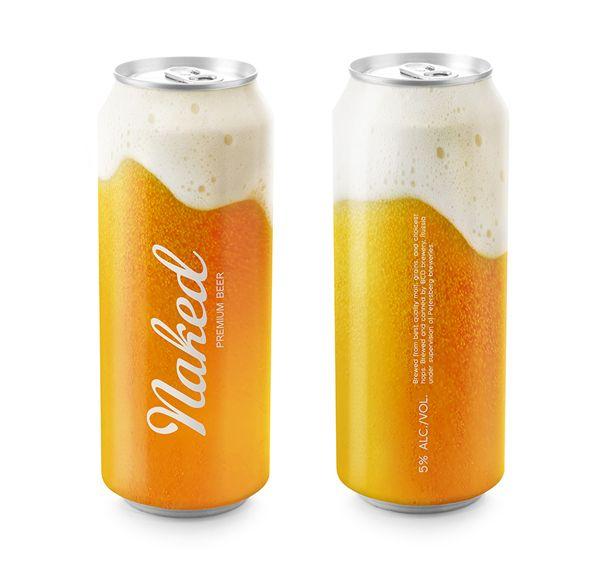 Naked Beer packaging design by Timur Salikhov.
