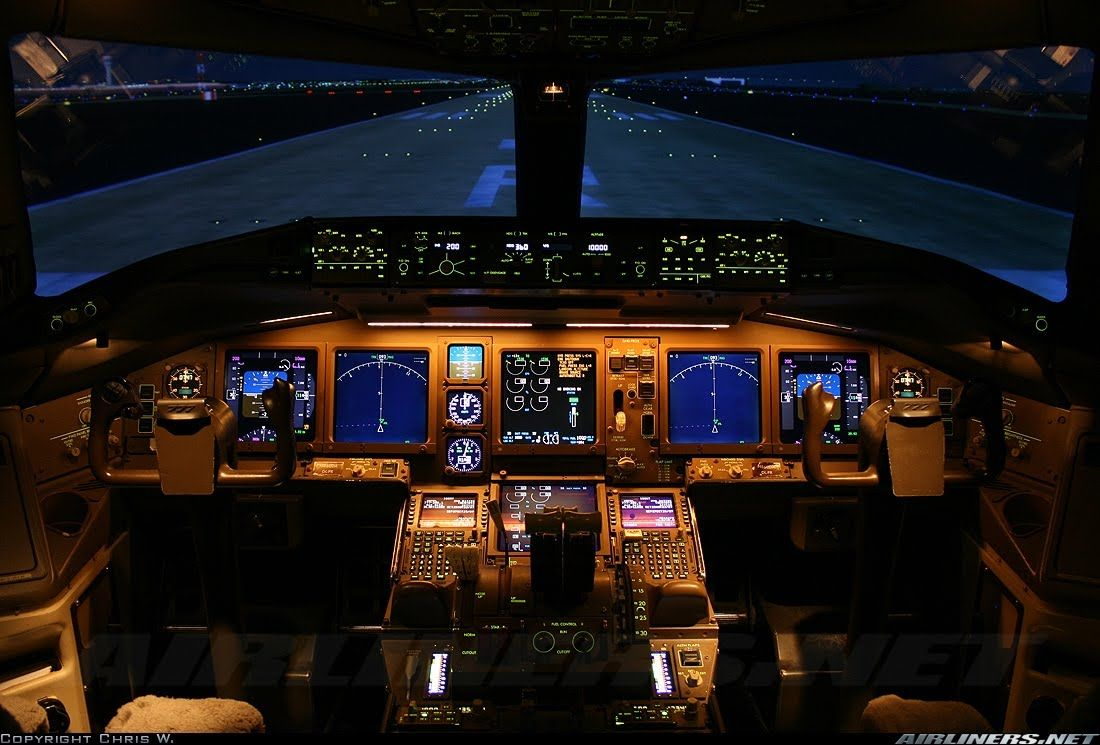 The Boeing 737 800 Cockpit Flight Deck Aircraft Airplane