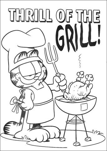 Thrill Of The Grill Coloring Page Coloring Pages To Print
