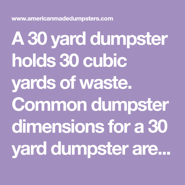 Pin On American Made Dumpsters