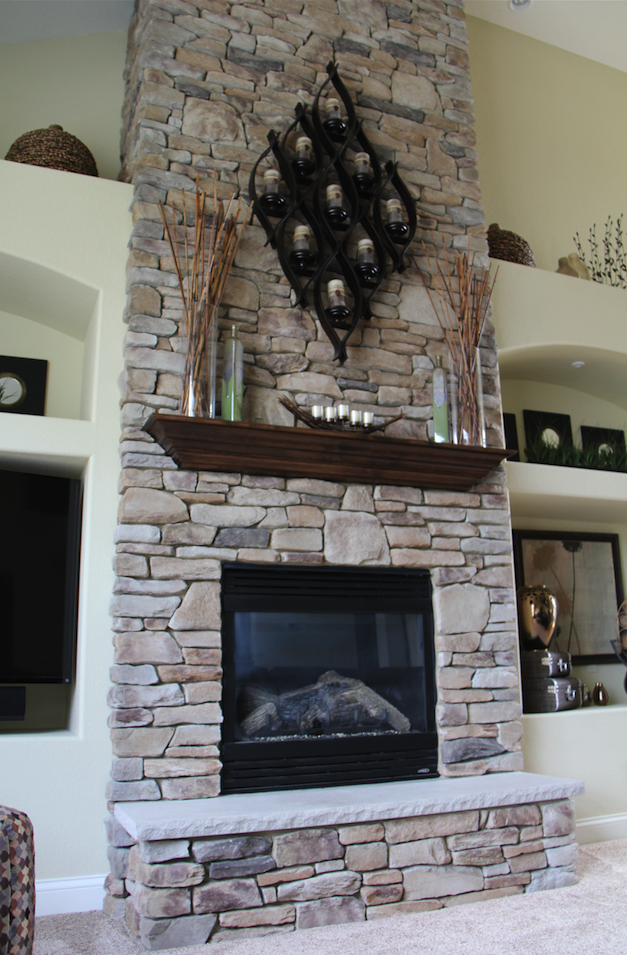 Decorating Solutions Tip Of The Week Showcasing Tall Fireplaces Fireplace Remodel Tall Fireplace Decorating Solutions
