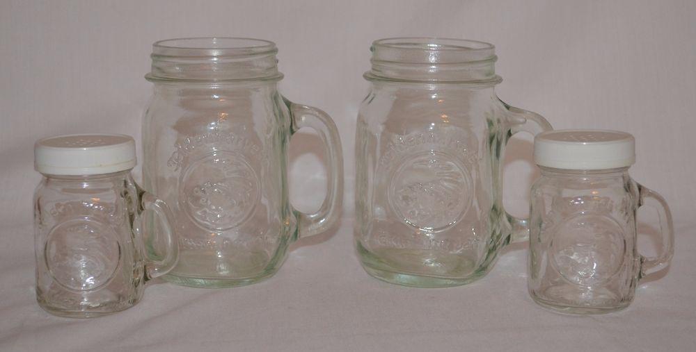 Golden Harvest Glass Drinking Mason Jars & Salt/Pepper Shakers Wedding Decor #GoldenHarvest