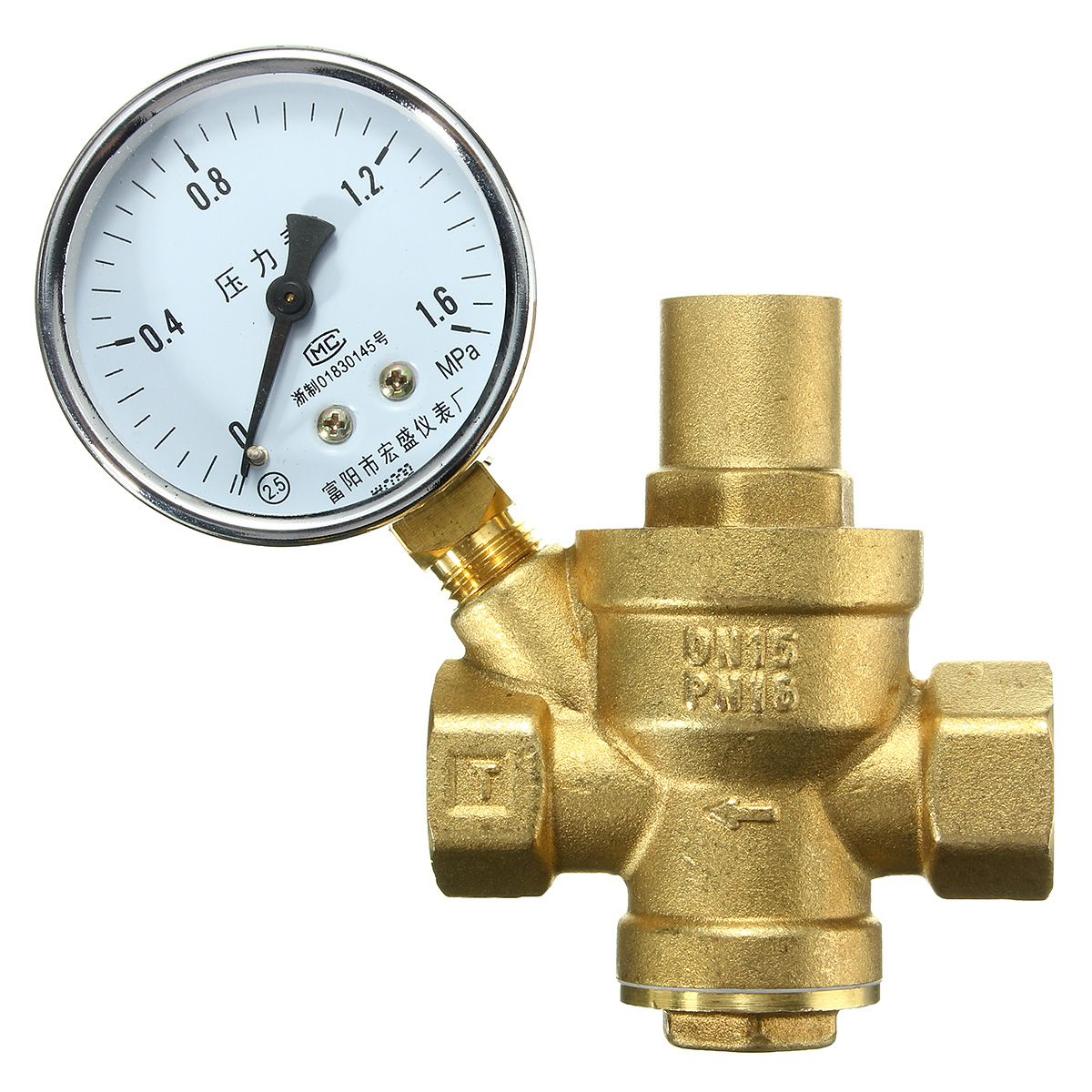 Dn15 1 2inch Bspp Brass Water Pressure Reducing Valve With Gauge Flow Adjustable Electrical Equipment Supplies From Industrial Scientific On Banggood Com Brass Valve Water