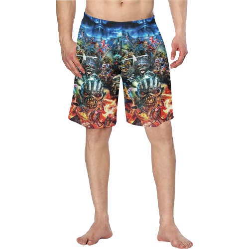 6edac4678583a Iron Maiden - Men's Swim Trunk designed by MyStorify | Clothing ...