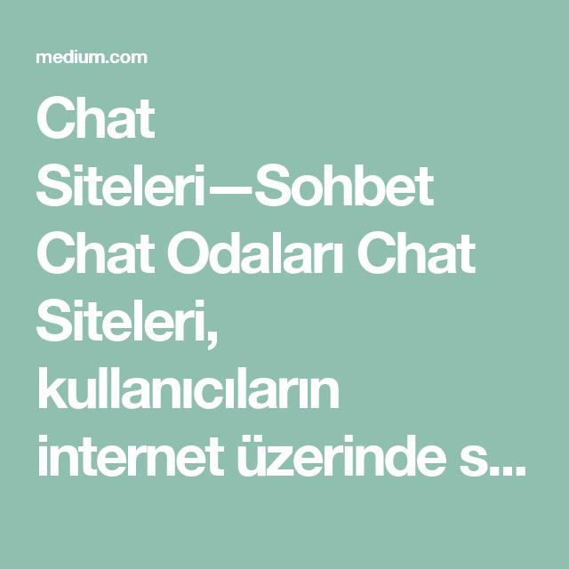 Internet chat siteleri