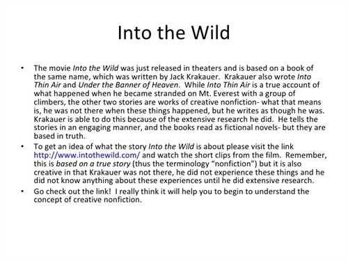 Creative Writing Essay  Creative Writing    Creative