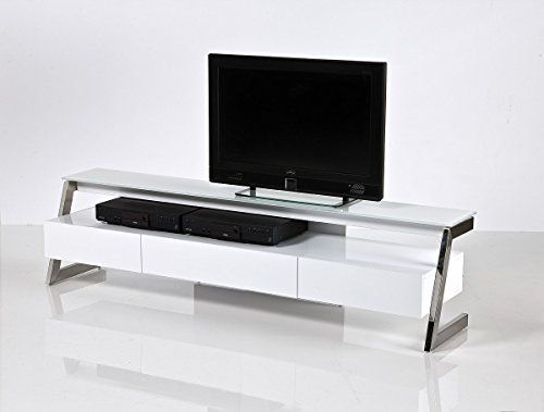 Daisy Tv Stand With Brushed Stainless Steel Support Mod House Design Pinterest Flat Stands And Entertainment Furniture