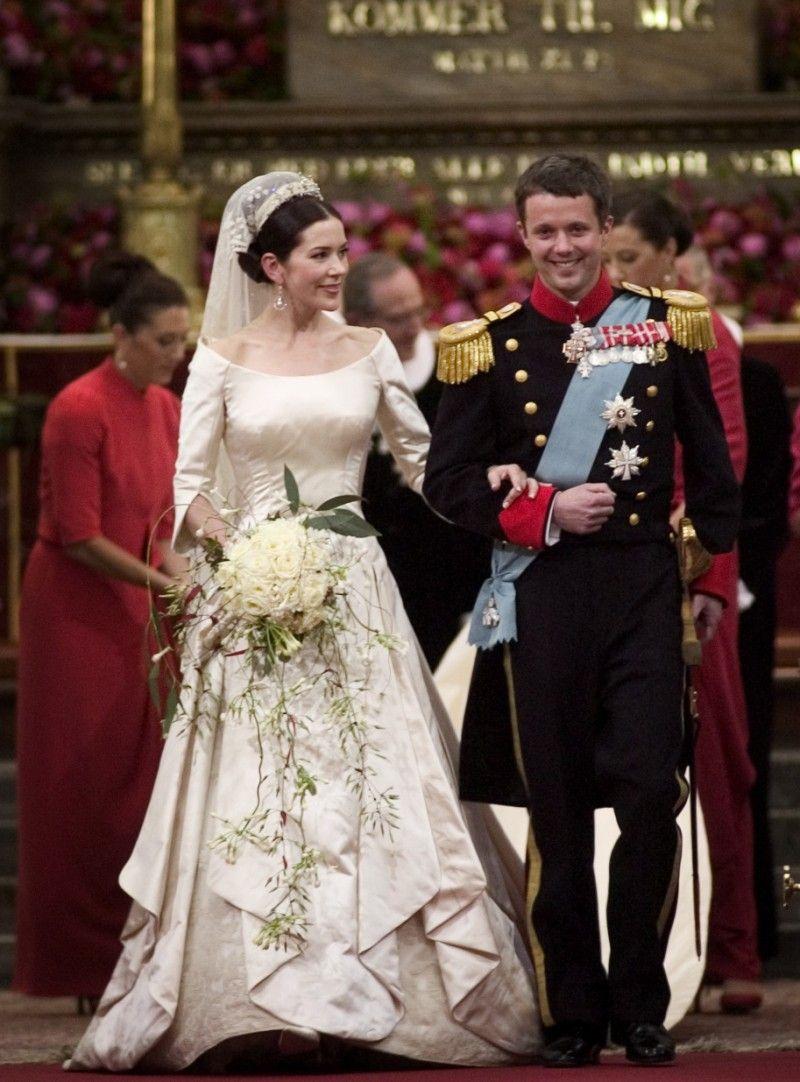Danish Royal Wedding 2004 Mary Frederick At Their Wedding On