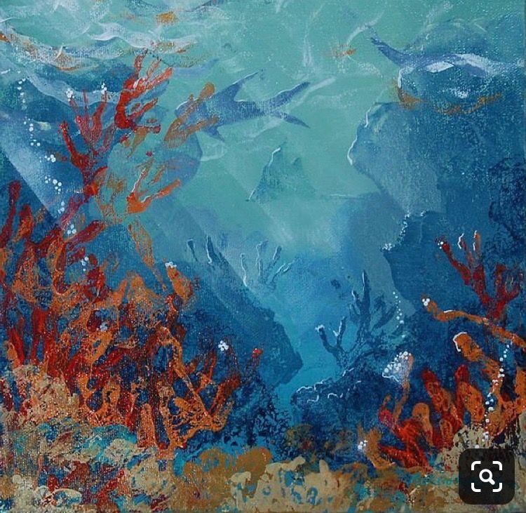 Pin by Beachbelle on Marine art | Underwater painting ...