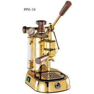 La Pavoni Professional Manual Espresso Machine Gold Plated