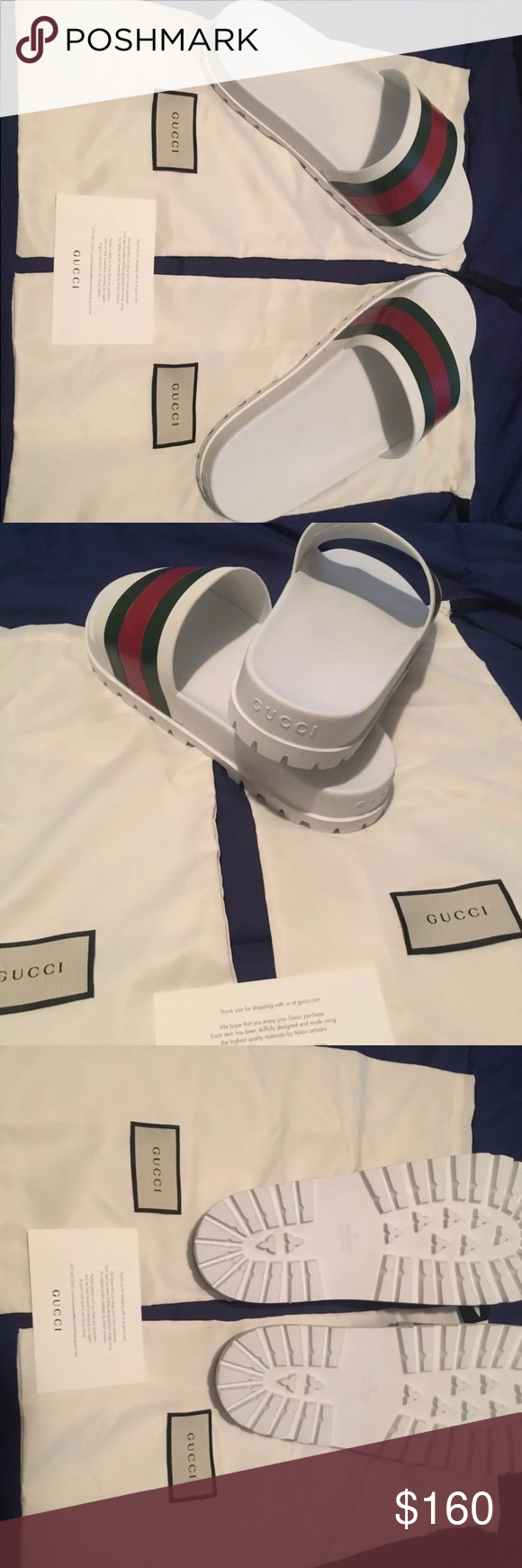 e122844f0b5a White Gucci Slides Size 14. Worn once Gucci Shoes Loafers   Slip-Ons ...