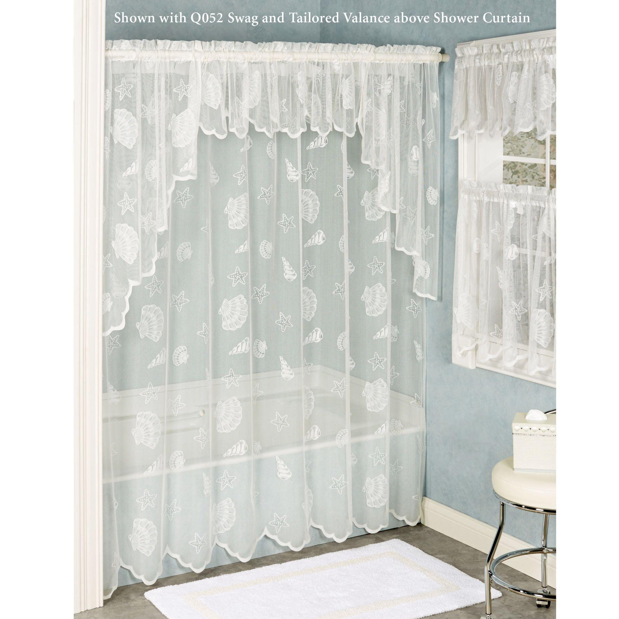 Single Swag Shower Curtain