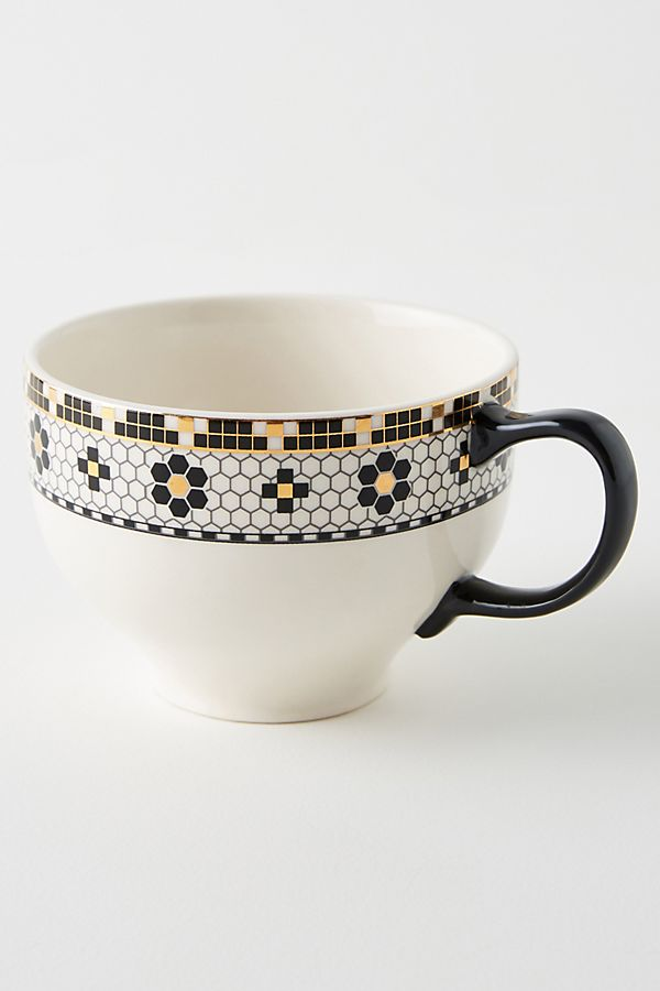 bistro tile mugs set of 4 mugs tea