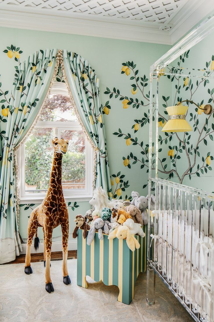 cutest nursery ever — lemons and giraffe theme  Nursery design