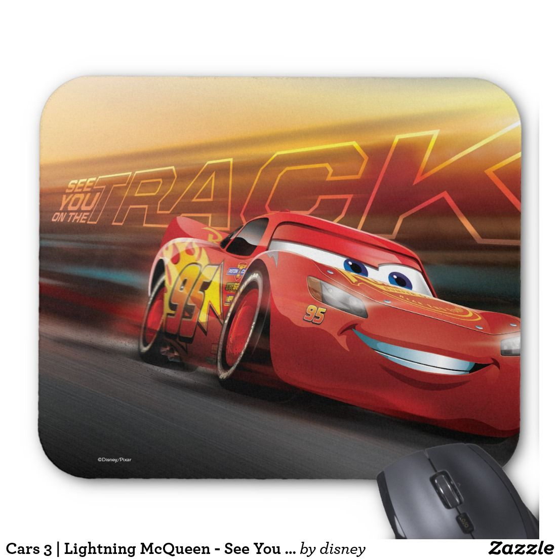 Cars Lightning McQueen See You On The Track Mouse Pad - Lightning mcqueen custom vinyl decals for carcars lightning mcqueen disney decal sticker window new colorwhi