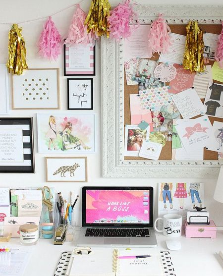 beautiful home office ideas  clipboard wall organiser  Rooms on
