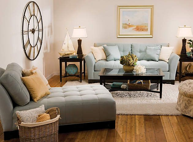 Pretty living room with cindy Crawford sofa For the Home