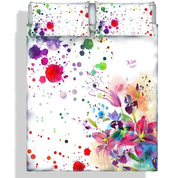 Kiosa Copripiumino.Duvet Cover Set Digital Printing Coll Kiosa Parure Copripiumino