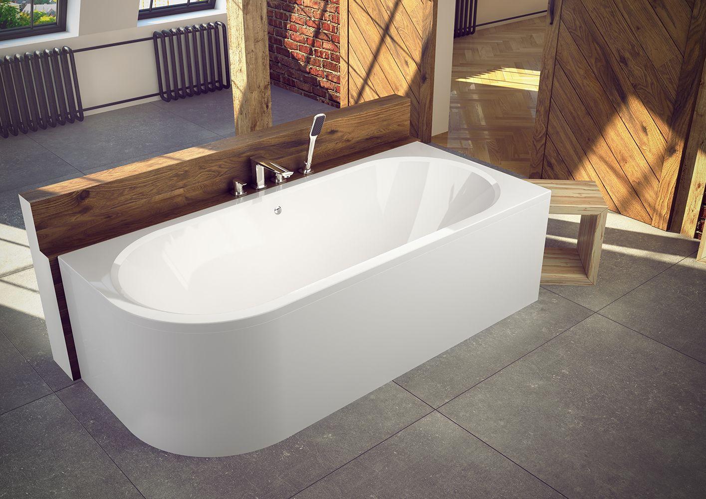 Wanna Asymetryczna Besco Avita 170 X75cm Prawa Lewa Luxury Bathtub Bathtub Corner Bath