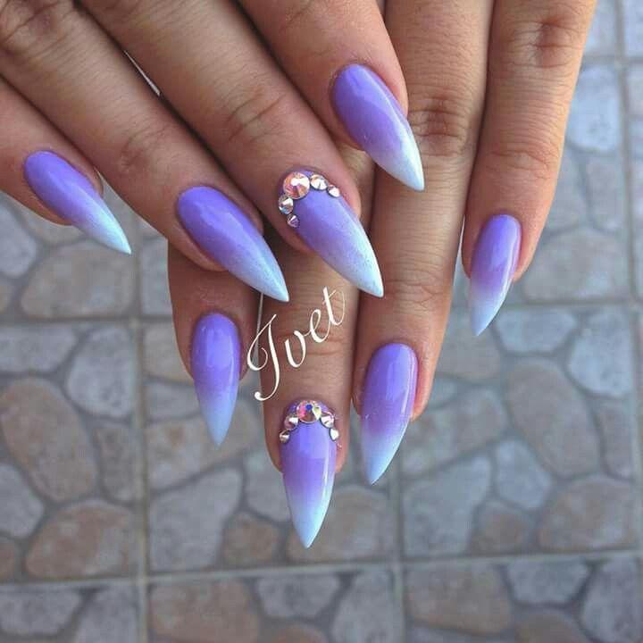 nice Purple gradient stiletto nails... | Stiletto Nails Design ...