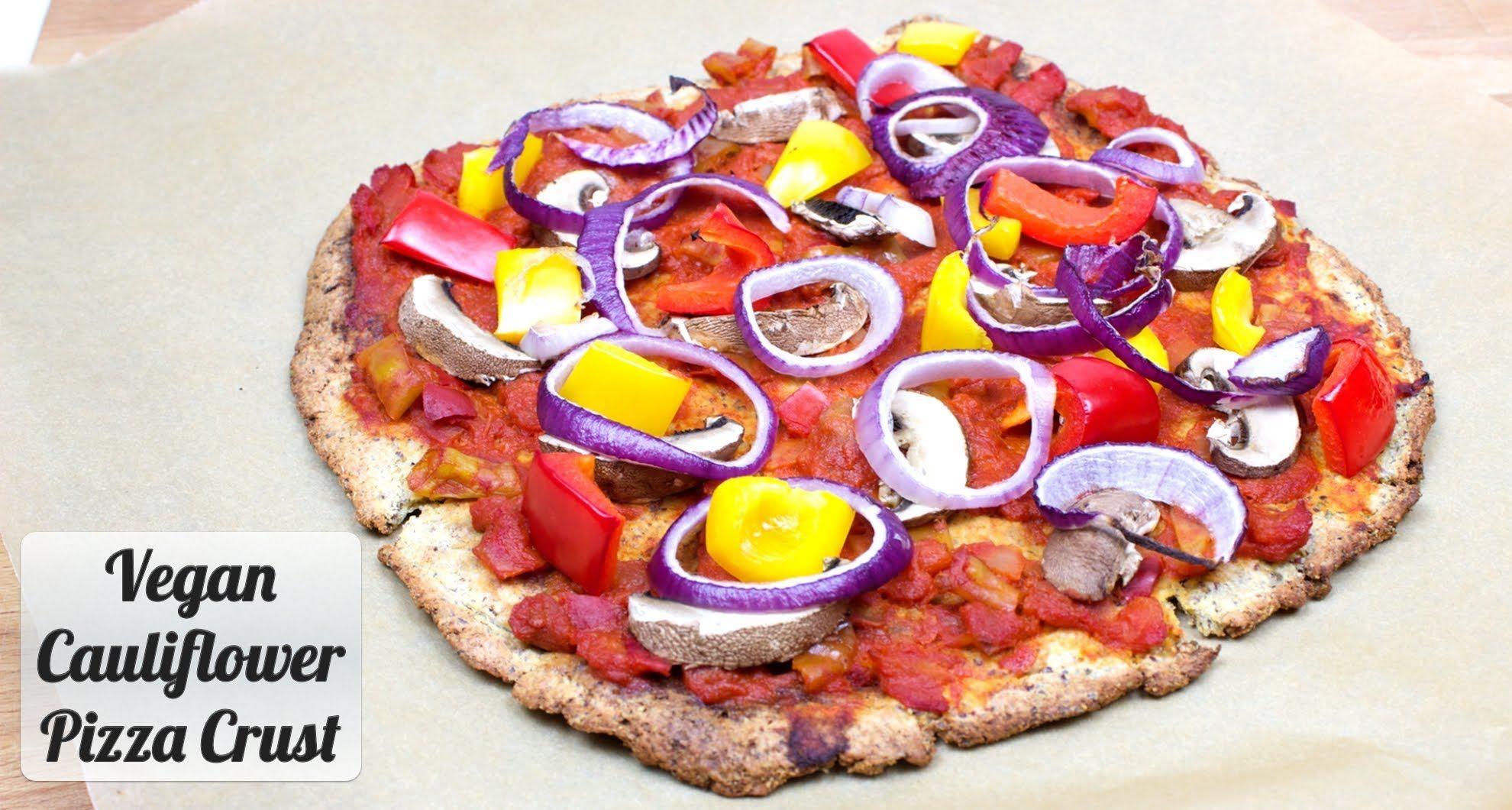 Vegan Cauliflower Pizza Crust Recipe Flax Chia Seeds Blumenkohl Pizzateig Rezepte Pizzateig Rezept