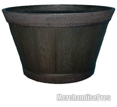 Extra Large Whiskey Barrel Resin Garden Planter 22 5 X 12 400 x 300