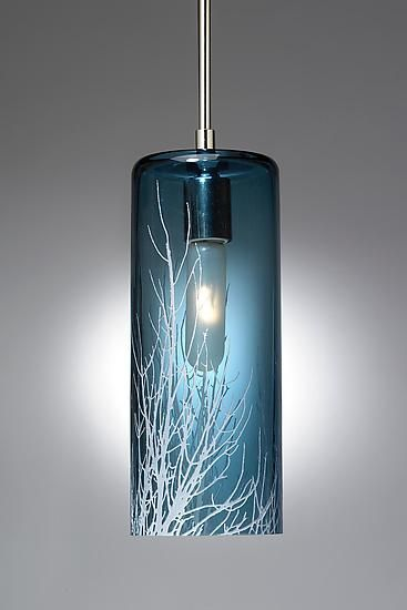 Winter branch pendant by moshe bursuker art glass pendant lamp winter branch pendant by moshe bursuker image pendant lights are hand blown and carved glass the images are taken by the artist and etched onto the mozeypictures Gallery