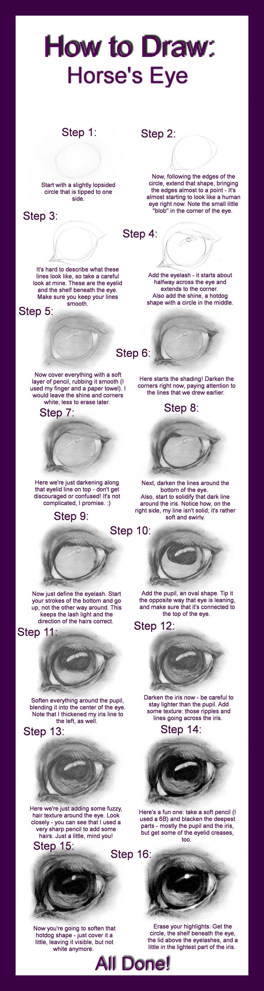 How to Draw: Horse\'s Eye by ~Define-X on deviantART   Horse ...