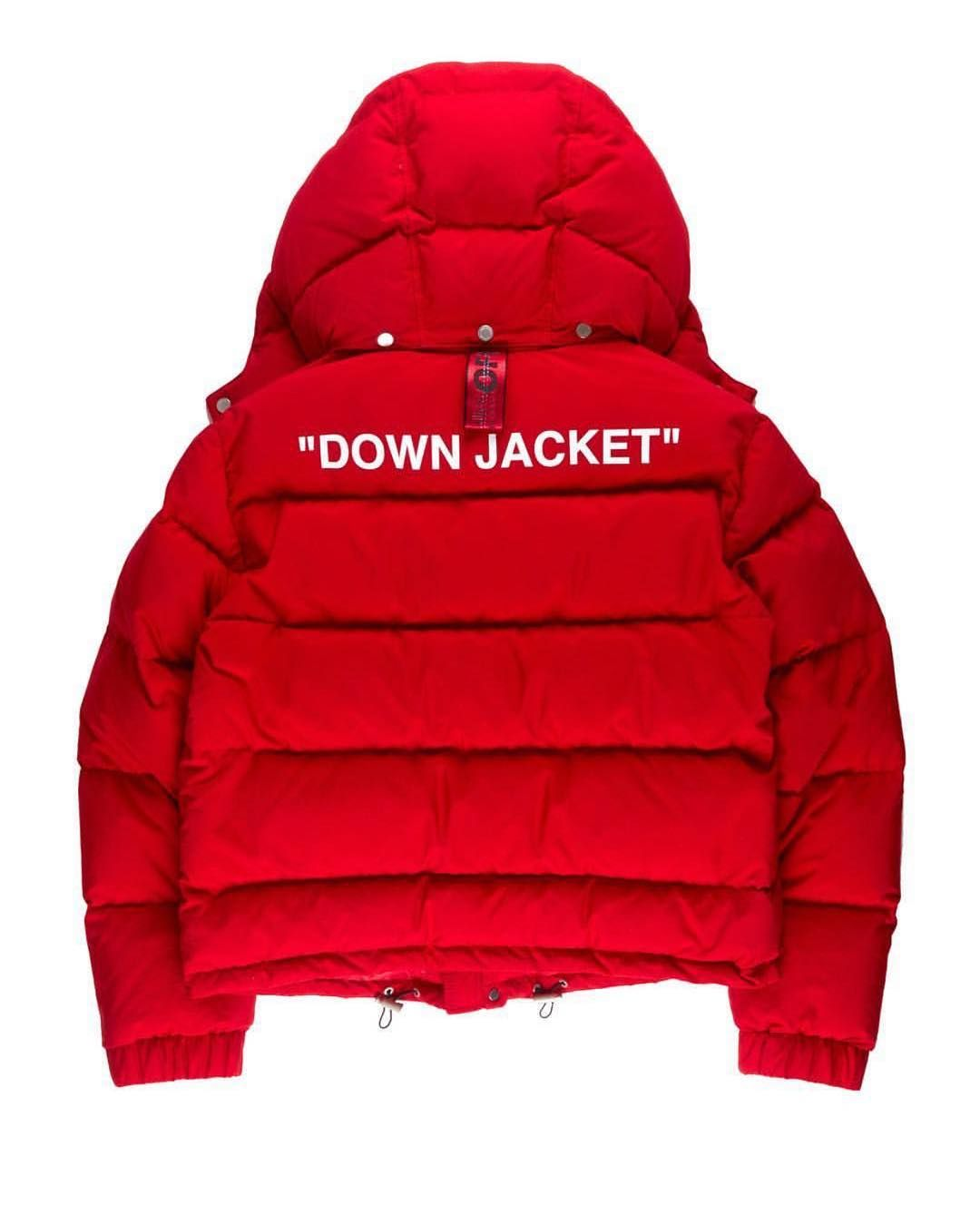 Off White On Instagram Fw18 Men S Off White Red Puffer Jacket Product Image C O Patronofthenew [ 1349 x 1080 Pixel ]