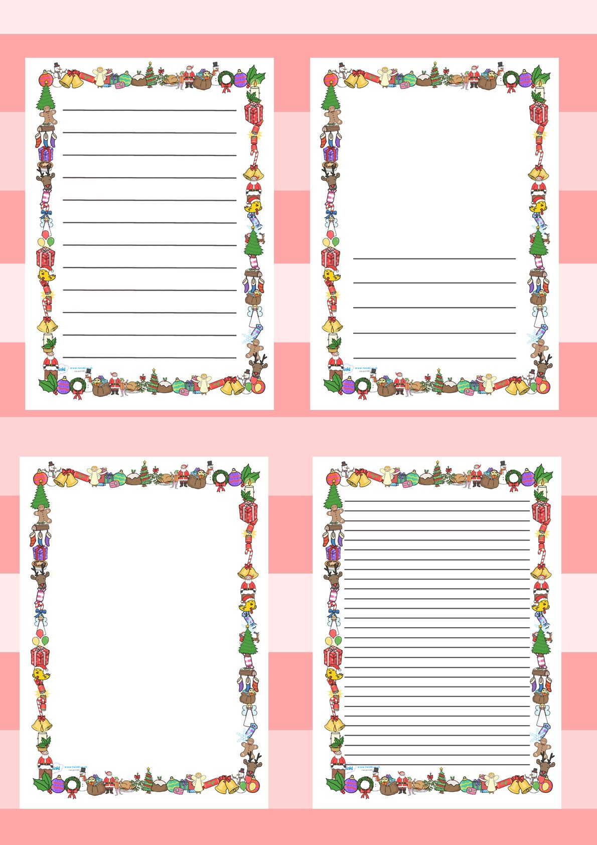 Twinkl Resources Gt Gt Christmas Page Borders Gt Gt Printable Resources For Primary Eyfs Ks1 And Sen