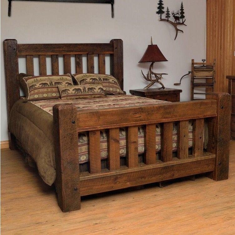 Rustic Reclaimed Barn Wood Bed Rustic Bedroom Furniture Bedroom