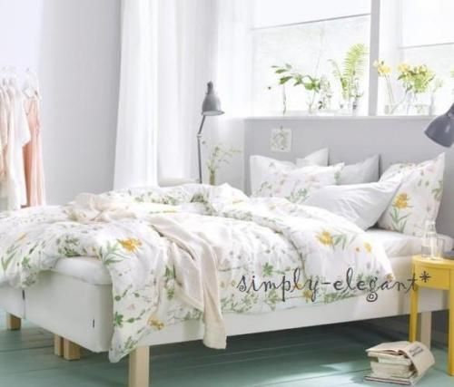 New Ikea Strandkrypa Duvet Quilt Cover Set Lovely Floral Design