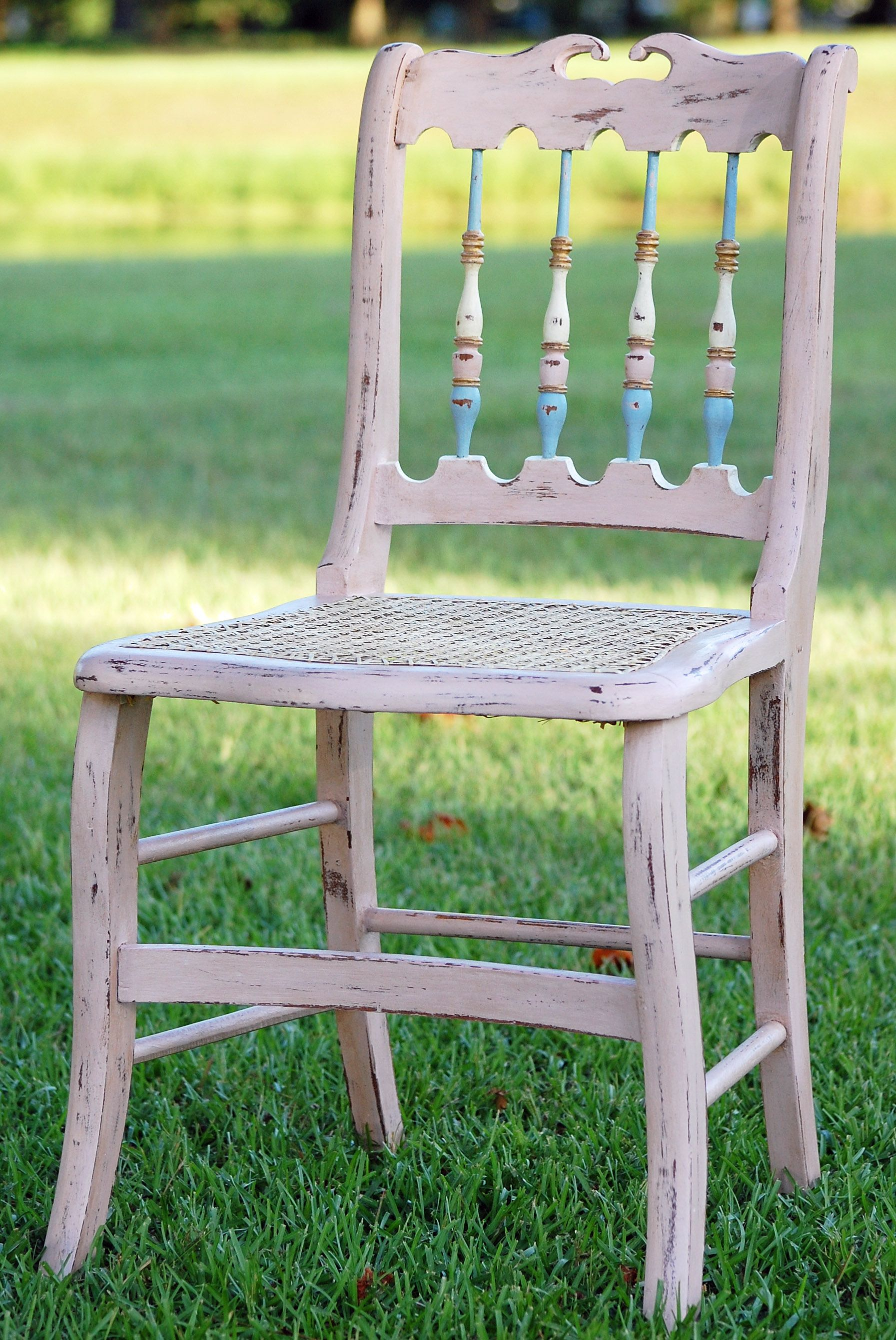 aunt priscilla has a rocking chair french dining chairs johannesburg pulled from the dump recaned painted with annie sloan