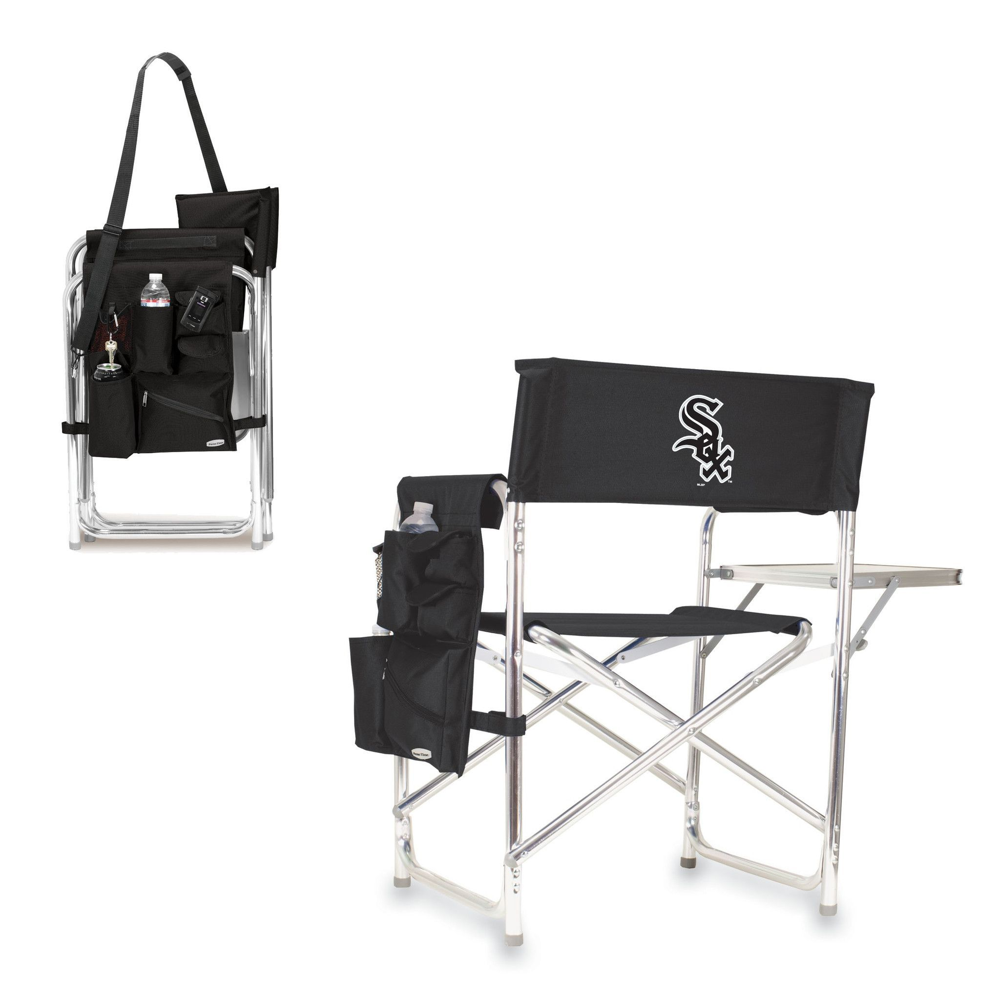 Chicago white sox sports chair with fold out table by