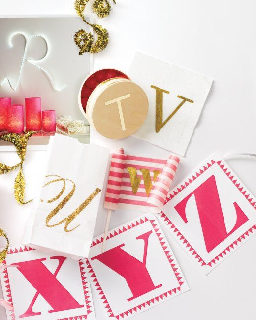 paper letters for banner