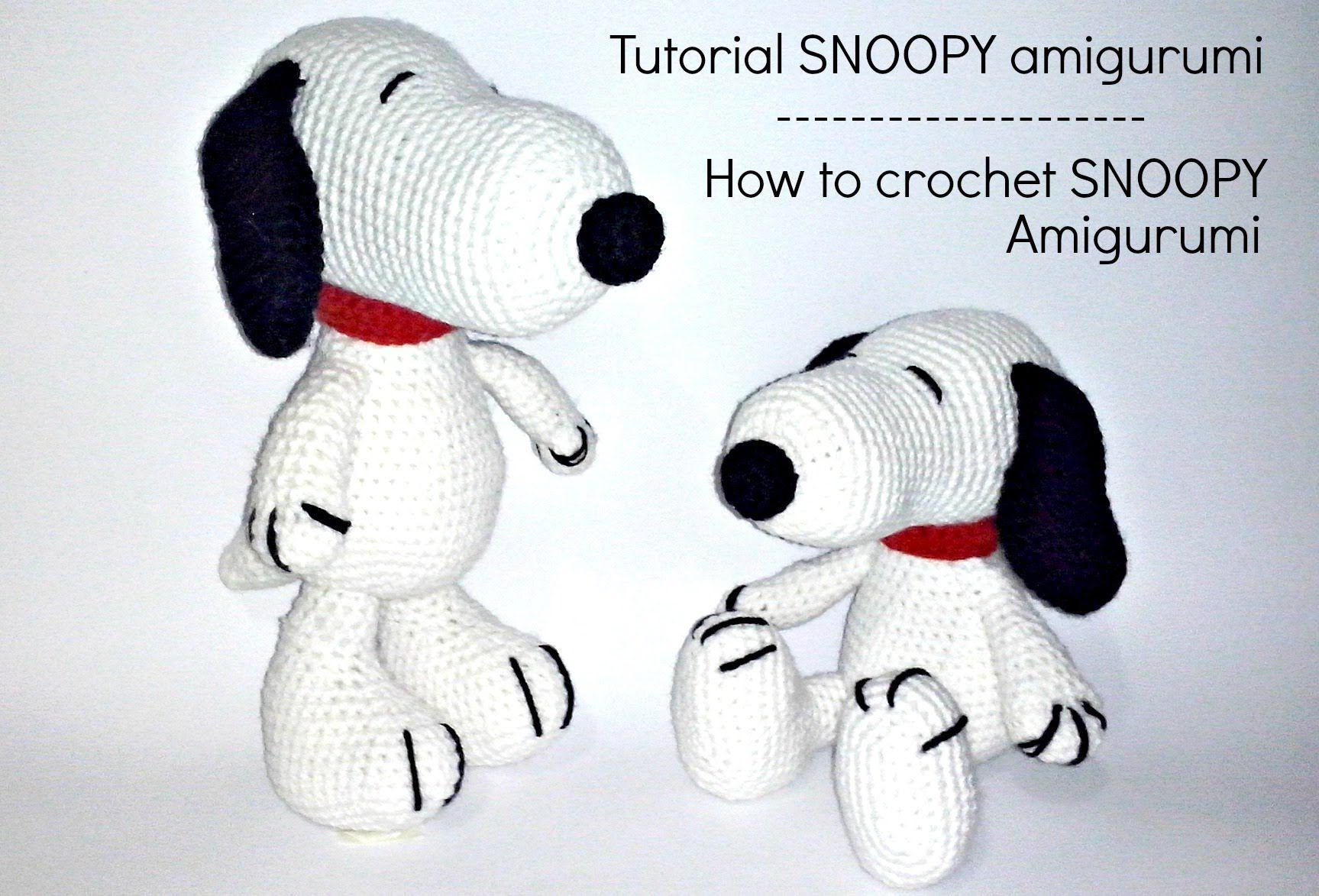 Tutorial Snoopy Amigurumi   How to crochet SNOOPY amigurumi   Hračky ...