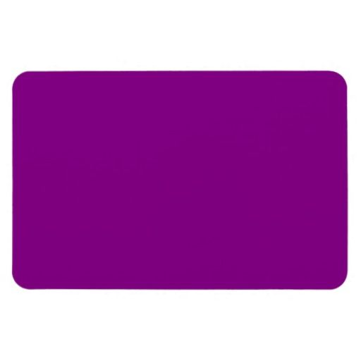 Plum Purple Color Deep Orchid Solid Background Vinyl Magnets