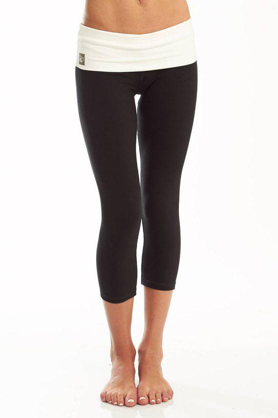 7acc5311c3 Womens Yoga Pants - Cotton Capri - 'Nava' Yoga Pants - Yoga Clothes Leggings