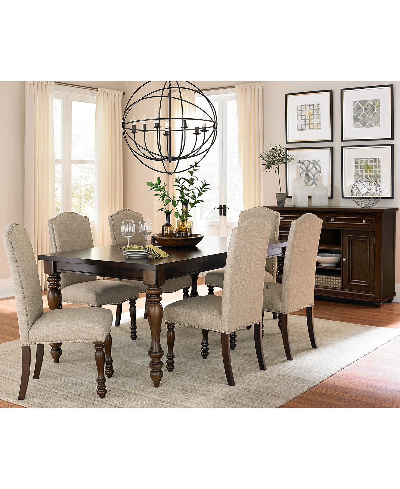 Kelso Dining Furniture Collection Only At Macy S Dining Room Collections Furniture Dining Room Sets Side Chairs Dining Oak Dining Room