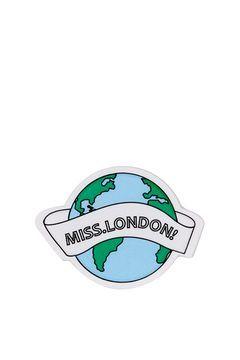 Miss London Padded Sticker