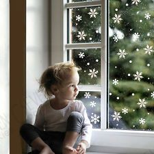 48 SNOWFLAKE CHRISTMAS DECORATIONS DECAL WINDOW CLINGS NOT REUSABLE STICKERS UK